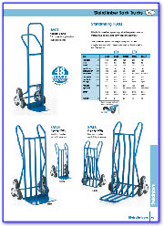 Sack Trucks, Stairclimber, Looped Handles, Rough Terrain, Three Position.