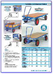 Turntable and Ackerman Trailers, Hand Trailers & Heavy Duty Trailers