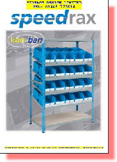 SPEEDRAX KANBAN SHELVING AND CONTAINERS FROM STORAGE DESIGN LIMITED